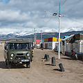 Straatbeeld in het Westen van Mongolie