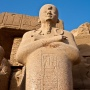 Beeld in Karnak
