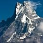 De top van de heilige berg Macchapuchare