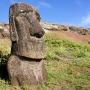 Moai bij Ranu Raraku
