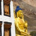 Boeddha beeld bij het klooster van Likir
