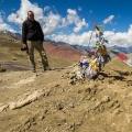 Jan op de top van de 3750 meter hoge Meptak La pas