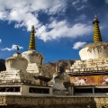 Stupa's bij het klooster van Lamayuru