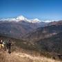 Nabij Ghorepani zicht op de Annapurna South