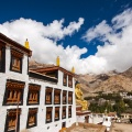 Likir klooster en bijbehorende boeddhabeeld