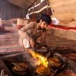 Thee zetten in een bedoeïenentent in de Wadi Rum woestijn